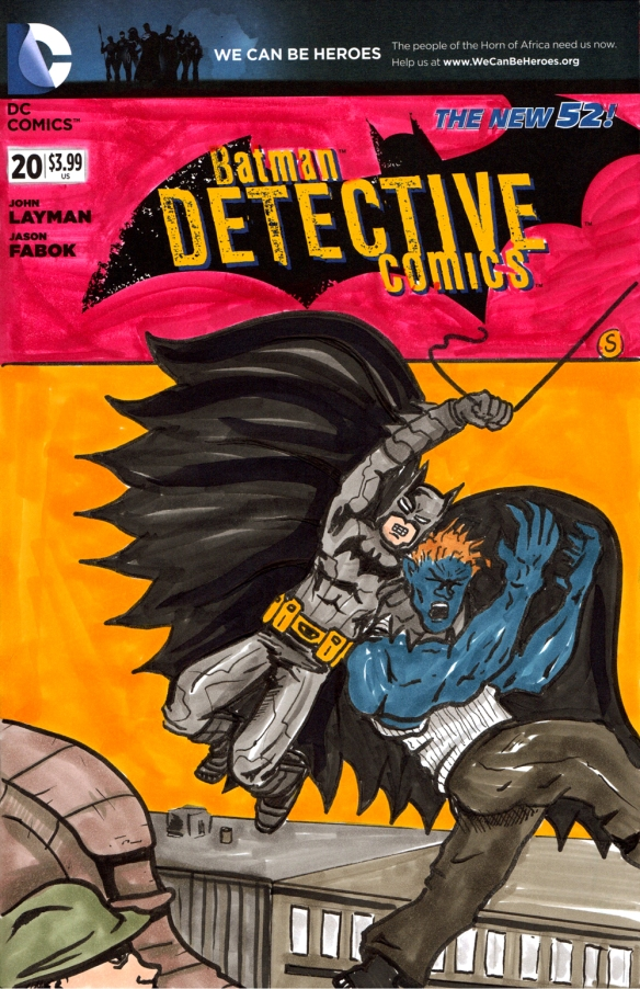 Detective comics sketch cover 2