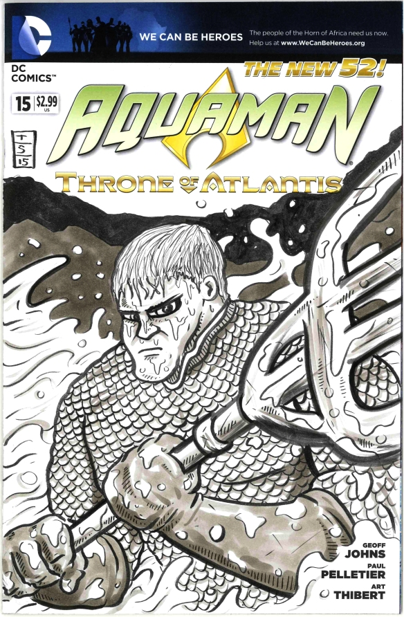 aquaman sketch cover