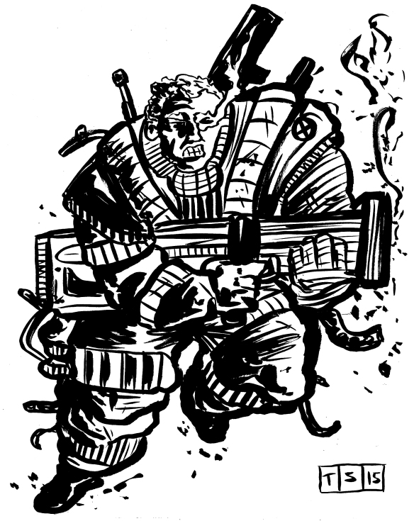 cable ink sketch