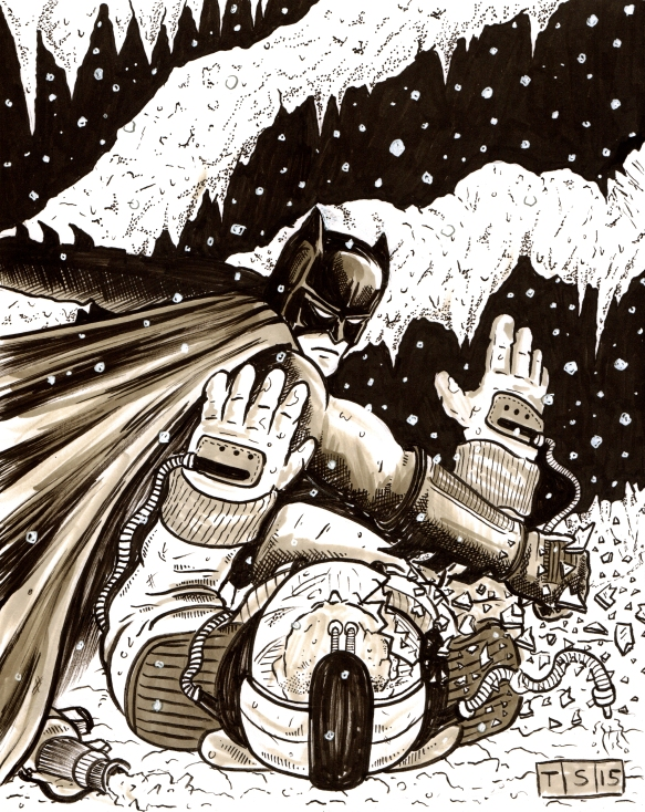 BATMAN PUNCHING FREEZE